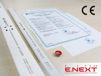 Updating Conformity Certificate: E.NEXT again confirmed  correspondence to european standards